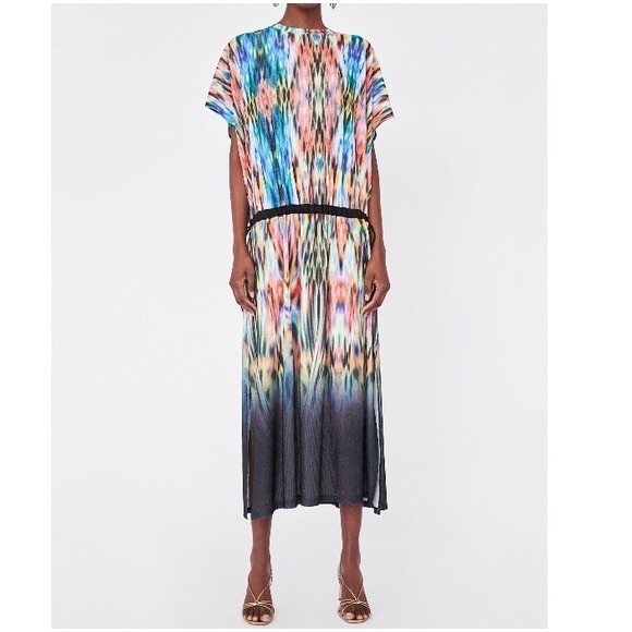 35e28b9677d Zara Dresses | Drop Waist Kaftan Tunic Maxi | Poshmark